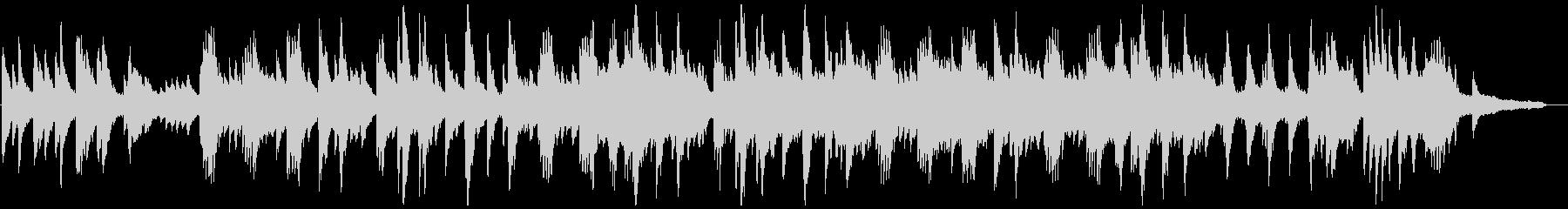 切ないピアノの感動バラードの未再生の波形