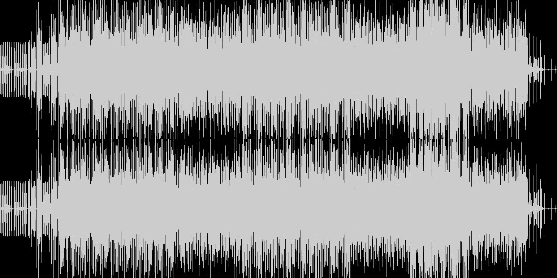 未来的なシンセサウンドの未再生の波形