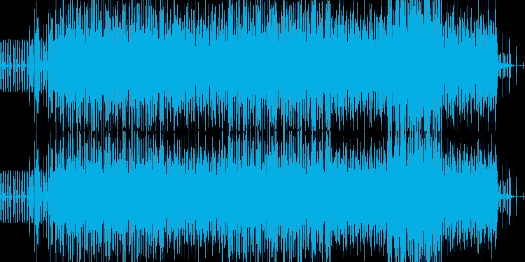 未来的なシンセサウンドの再生済みの波形