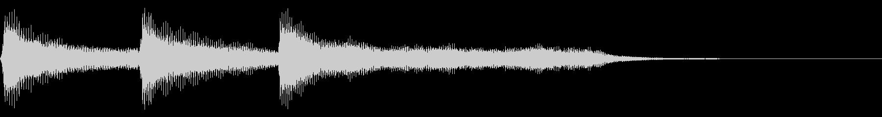 レトロなゲームクリア系の音 上昇音の未再生の波形