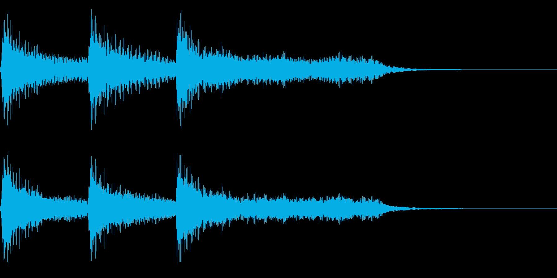 レトロなゲームクリア系の音 上昇音の再生済みの波形
