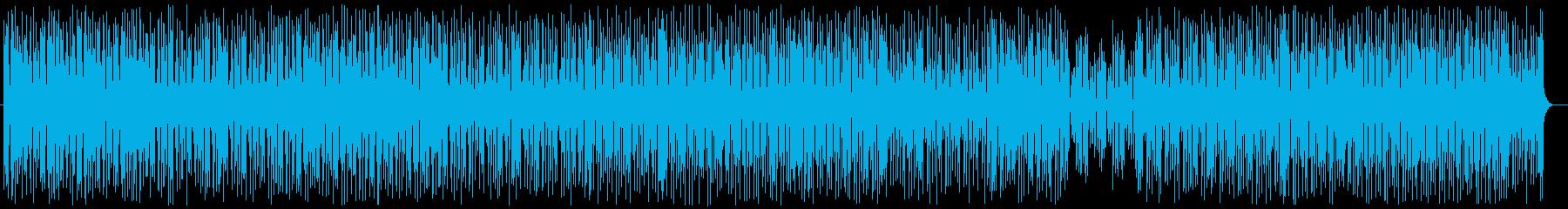 楽しげでゆっくりなサウンドの再生済みの波形