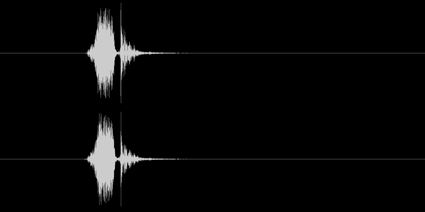 カシュッ(決定音)の未再生の波形