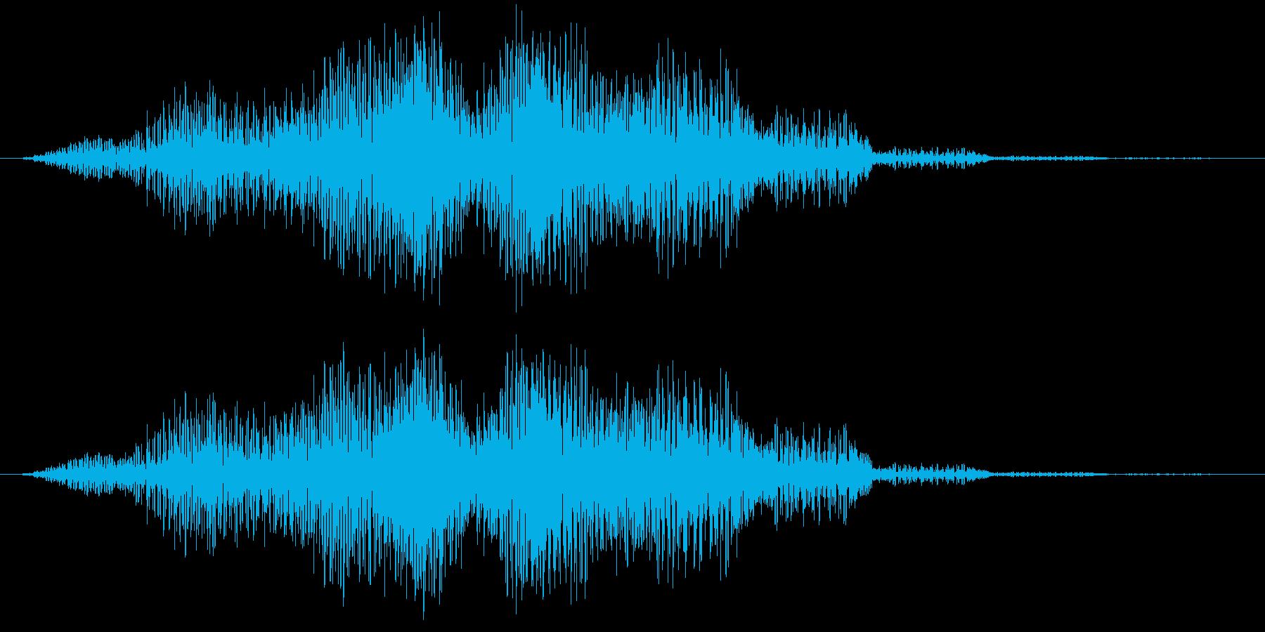 重力魔法の再生済みの波形