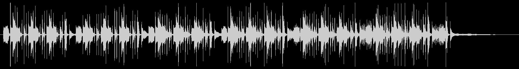 バスクラリネットによるコミカルなBGMの未再生の波形