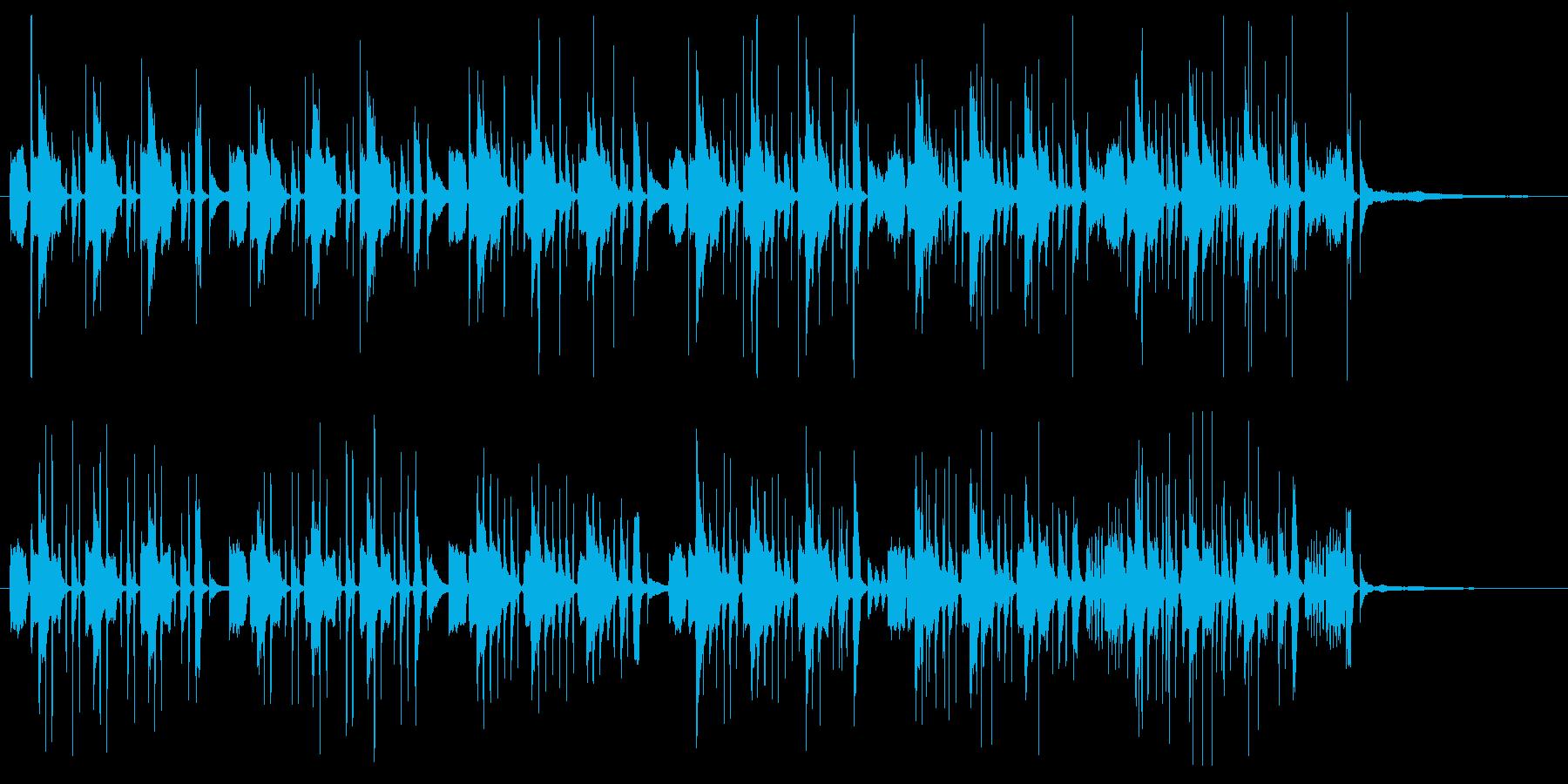 バスクラリネットによるコミカルなBGMの再生済みの波形