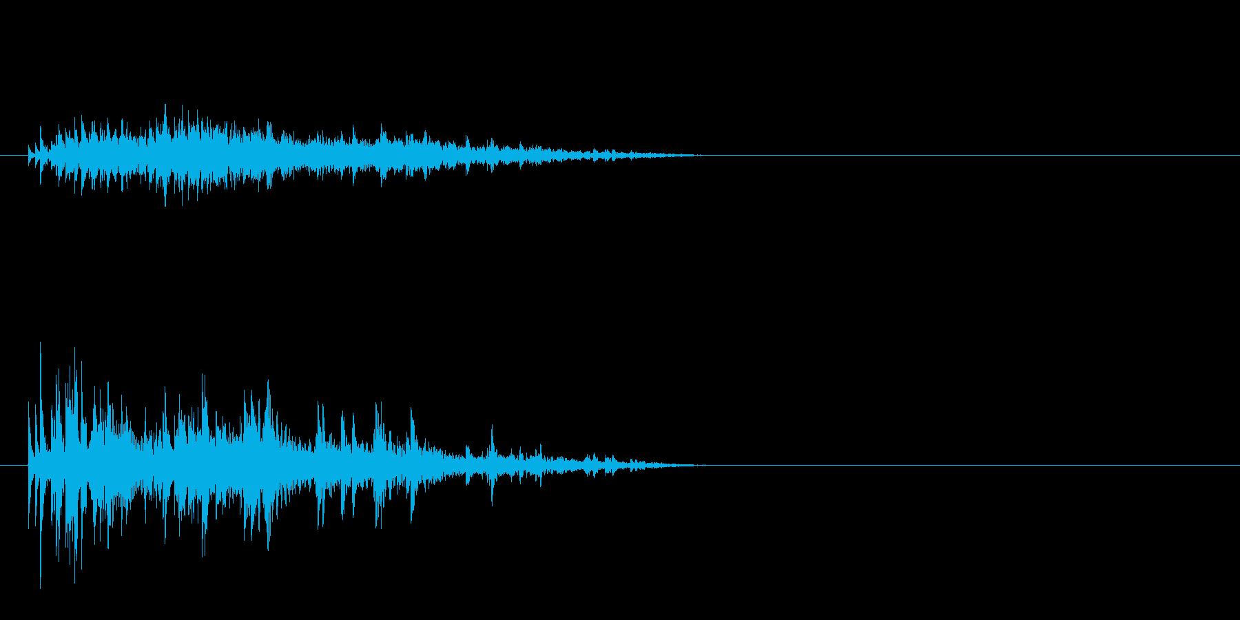 キラキラ 1、2よりも水っぽいの再生済みの波形