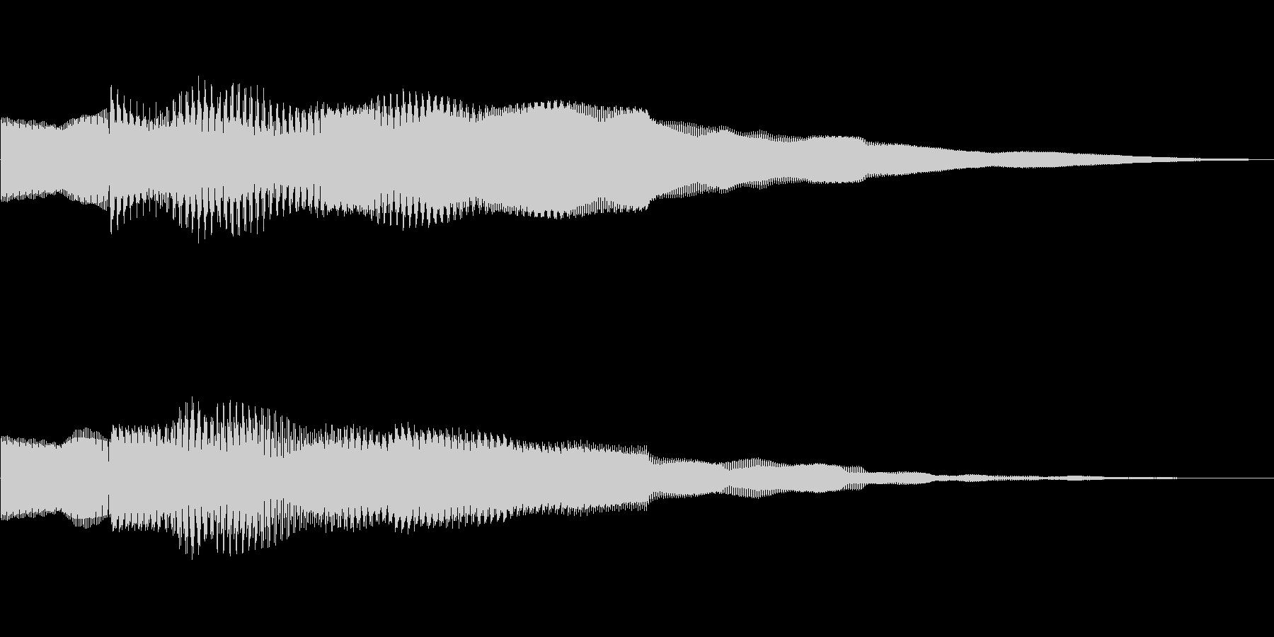 ピンポーン!!クイズ正解OKピンポン02の未再生の波形