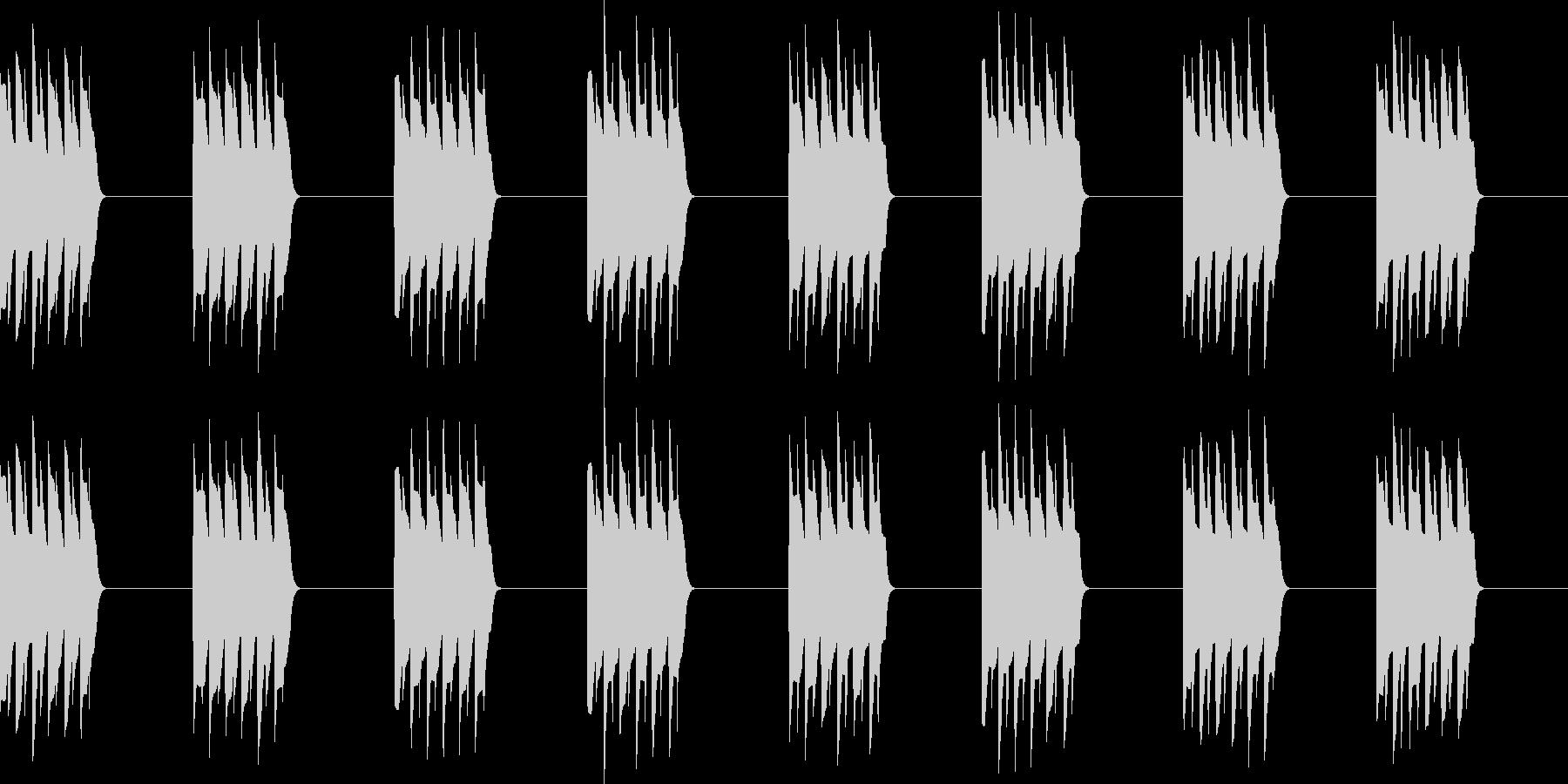 ピロピロ..。電話の着信音B(長)の未再生の波形