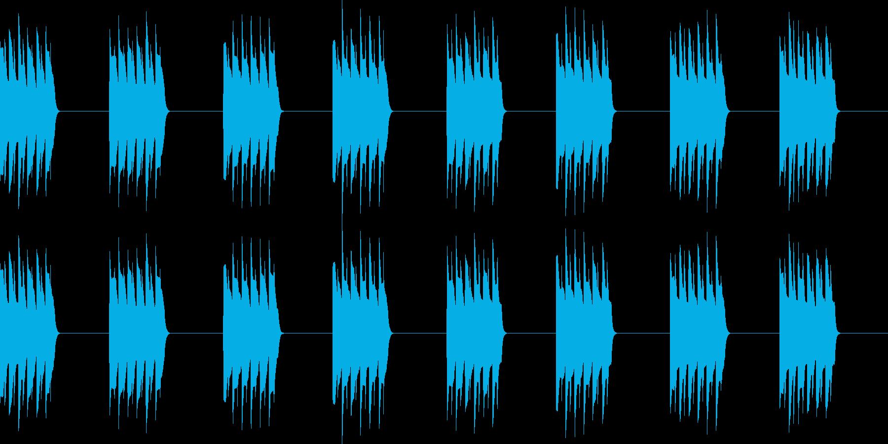 ピロピロ..。電話の着信音B(長)の再生済みの波形