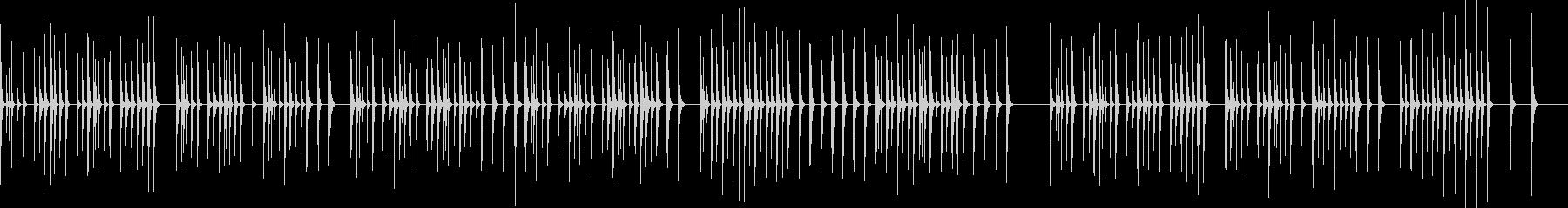 シロフォン(木琴)ソロのとぼけた感じの未再生の波形