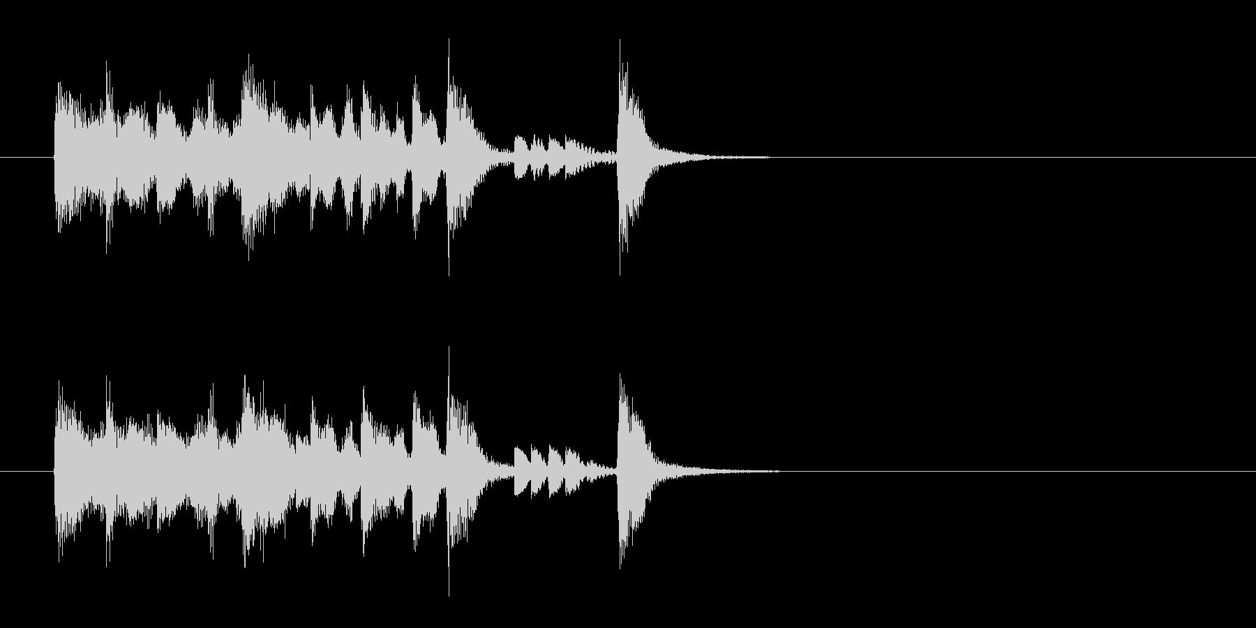 ジングル(ジャズ風)の未再生の波形