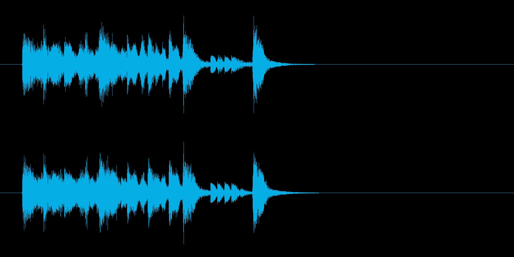 ジングル(ジャズ風)の再生済みの波形