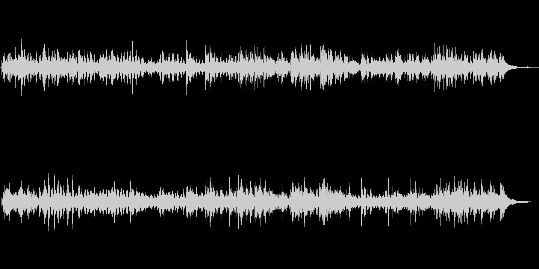 バッハ作のバロック調の曲の未再生の波形