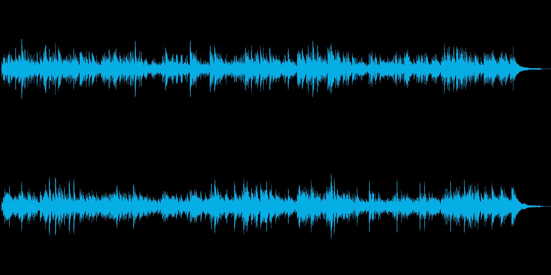 バッハ作のバロック調の曲の再生済みの波形