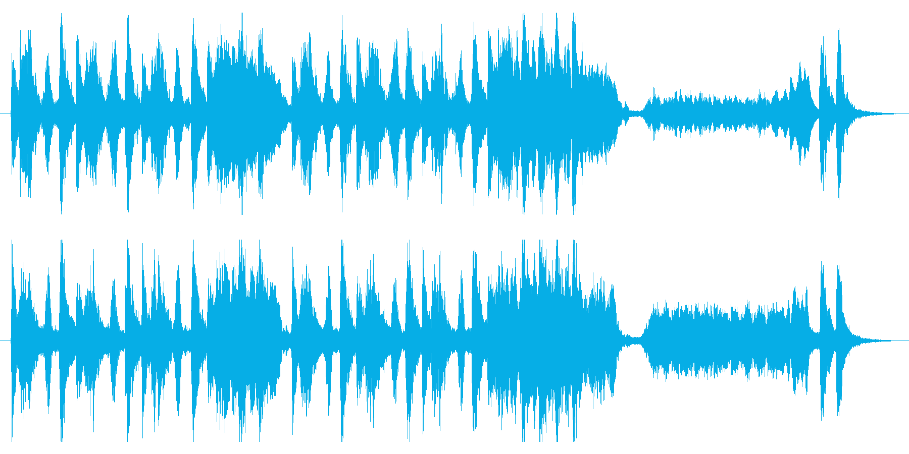 【オーケストラ】コミカル、わくわく、軽快の再生済みの波形