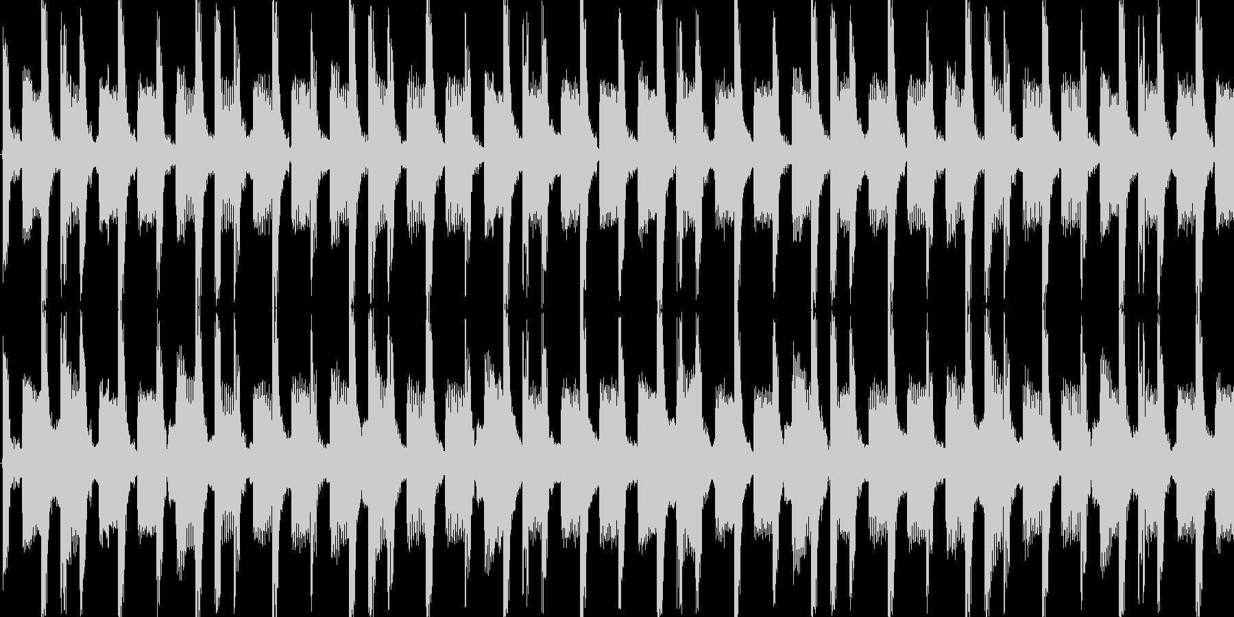 民族楽器のアップテンポディスコループの未再生の波形