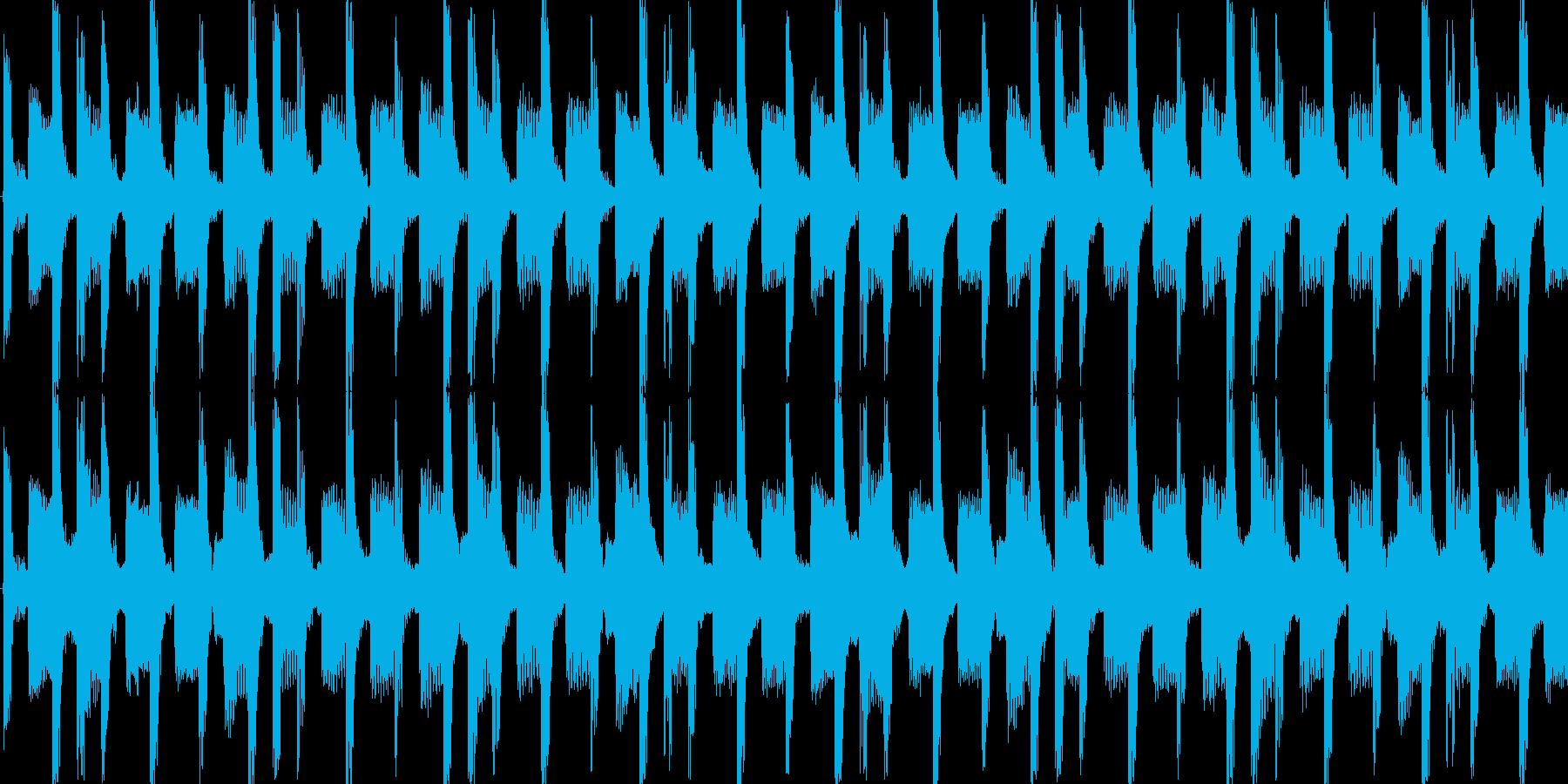 民族楽器のアップテンポディスコループの再生済みの波形