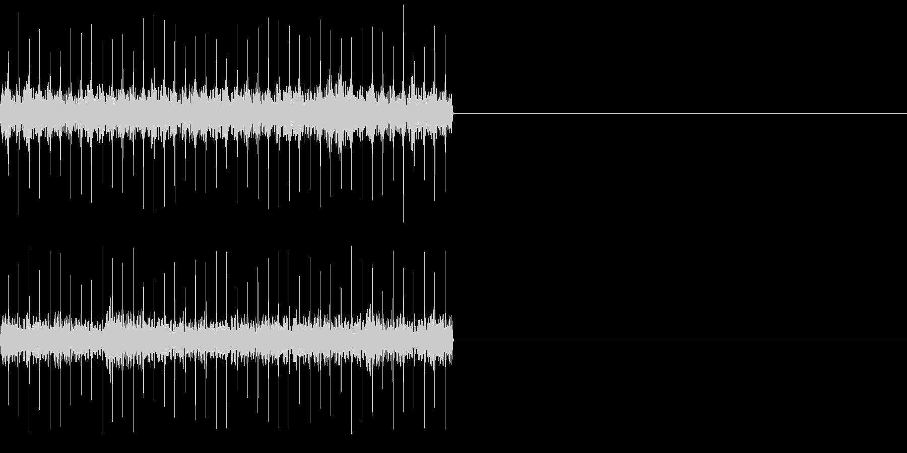 ビリビリ!電撃・感電の音!1ロングの未再生の波形