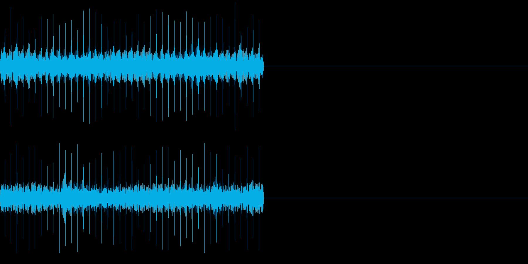 ビリビリ!電撃・感電の音!1ロングの再生済みの波形