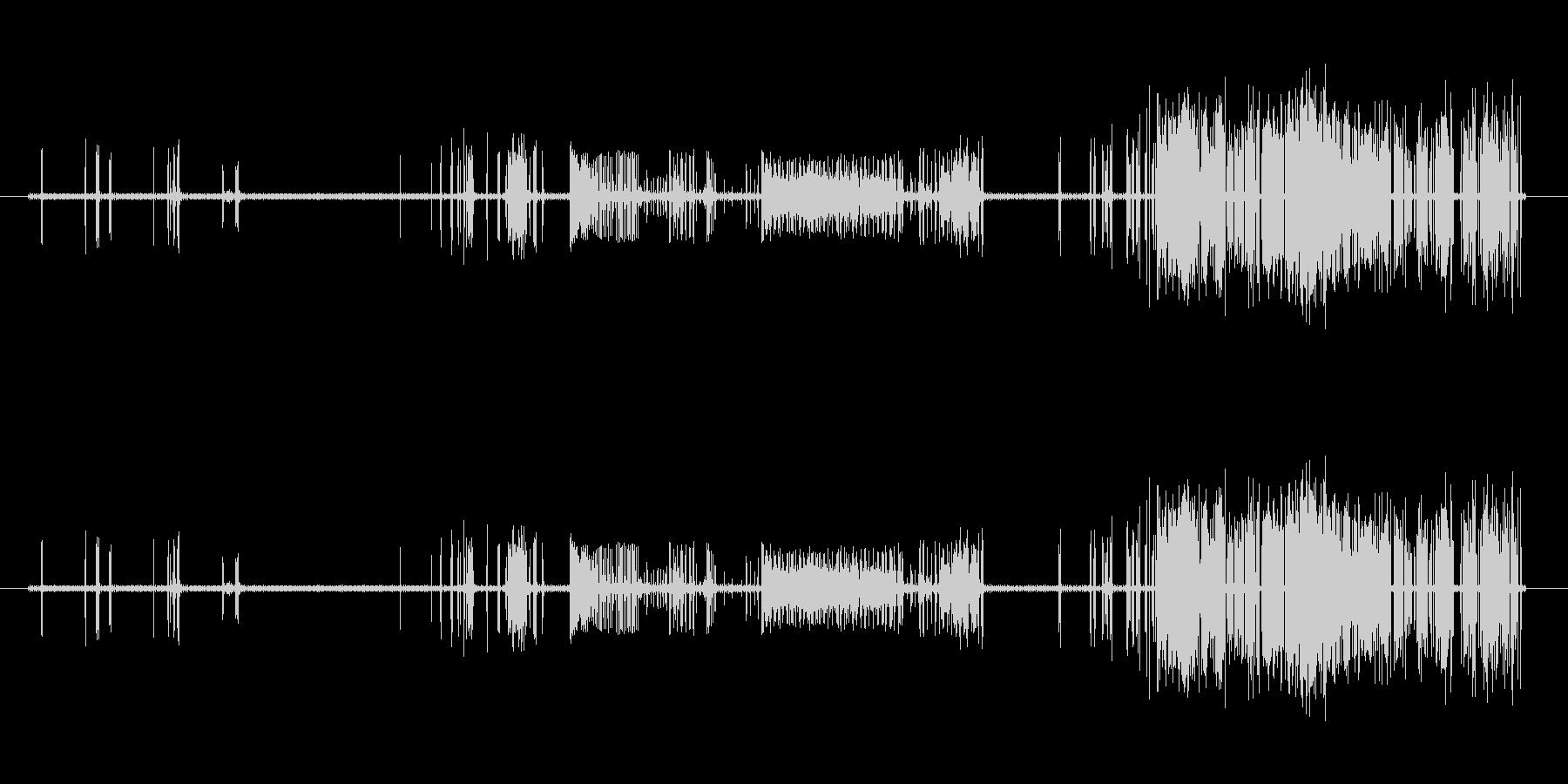 だんだんひどくなるノイズの未再生の波形