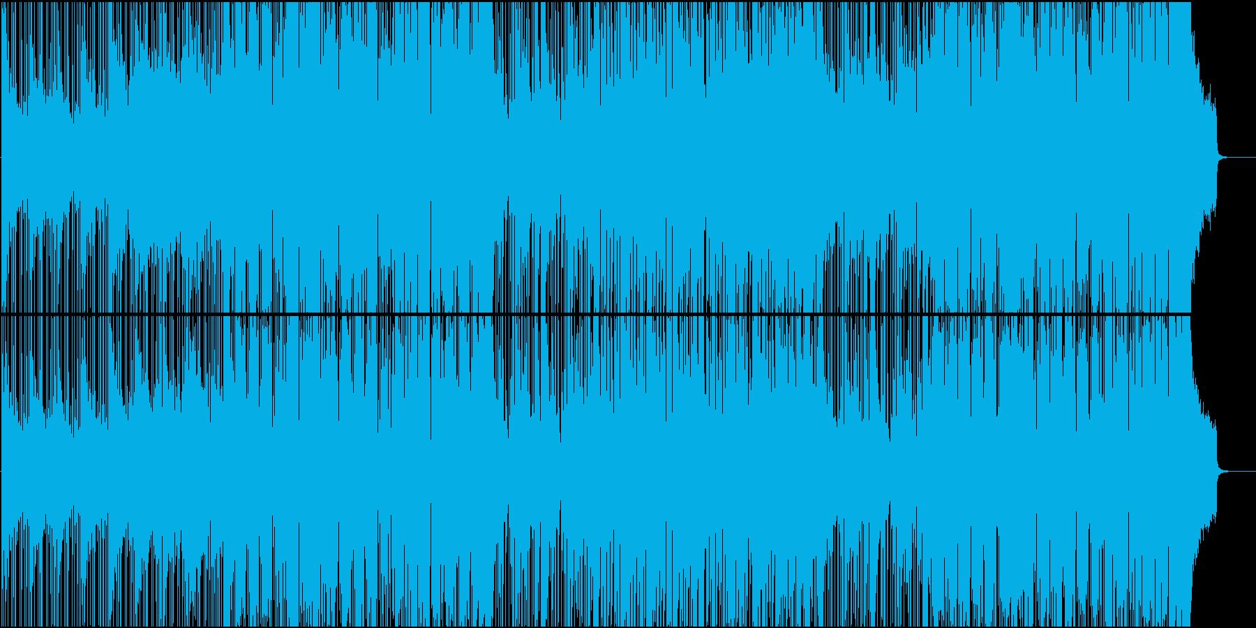 ニュース、ナレーション用活動的なBGMの再生済みの波形