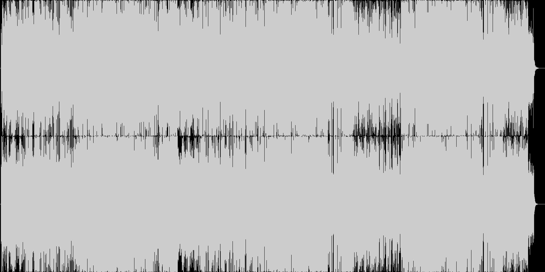 かわいい電波サウンドな楽曲の未再生の波形