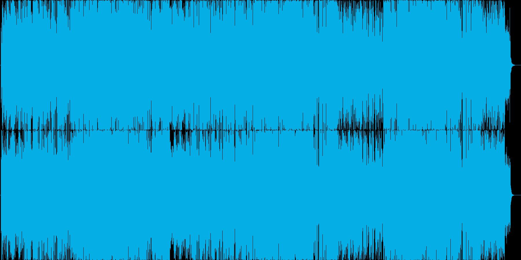 かわいい電波サウンドな楽曲の再生済みの波形
