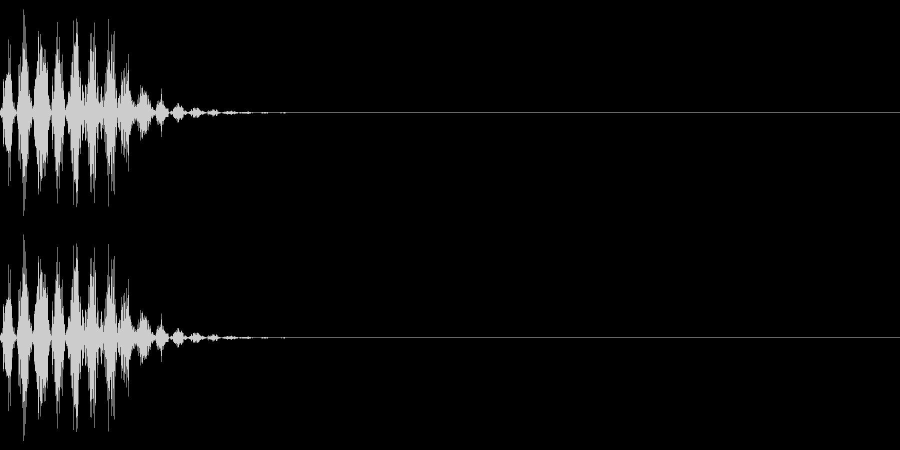 打撃音(マイナス_ダメージ_短い)の未再生の波形