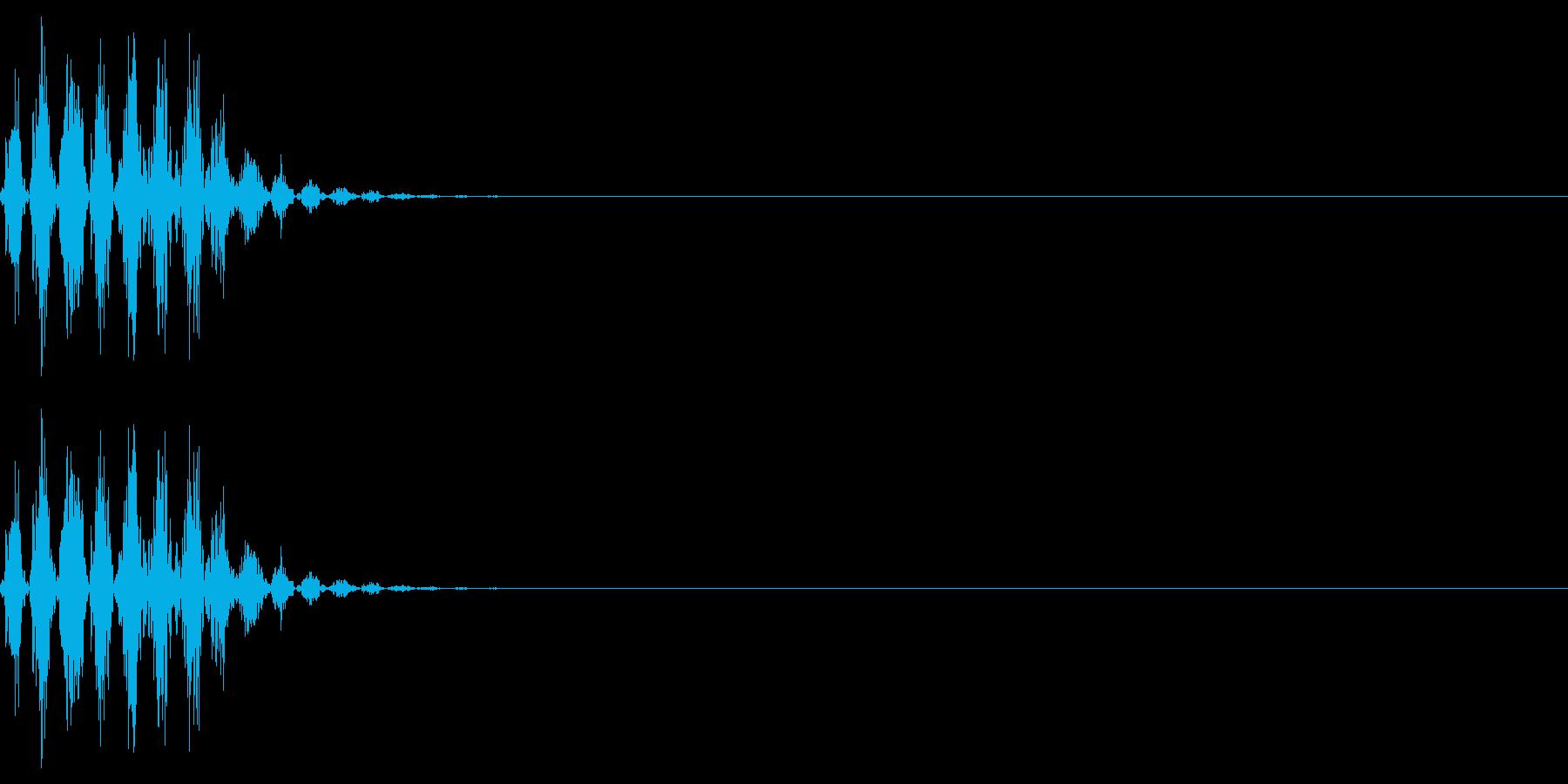 打撃音(マイナス_ダメージ_短い)の再生済みの波形