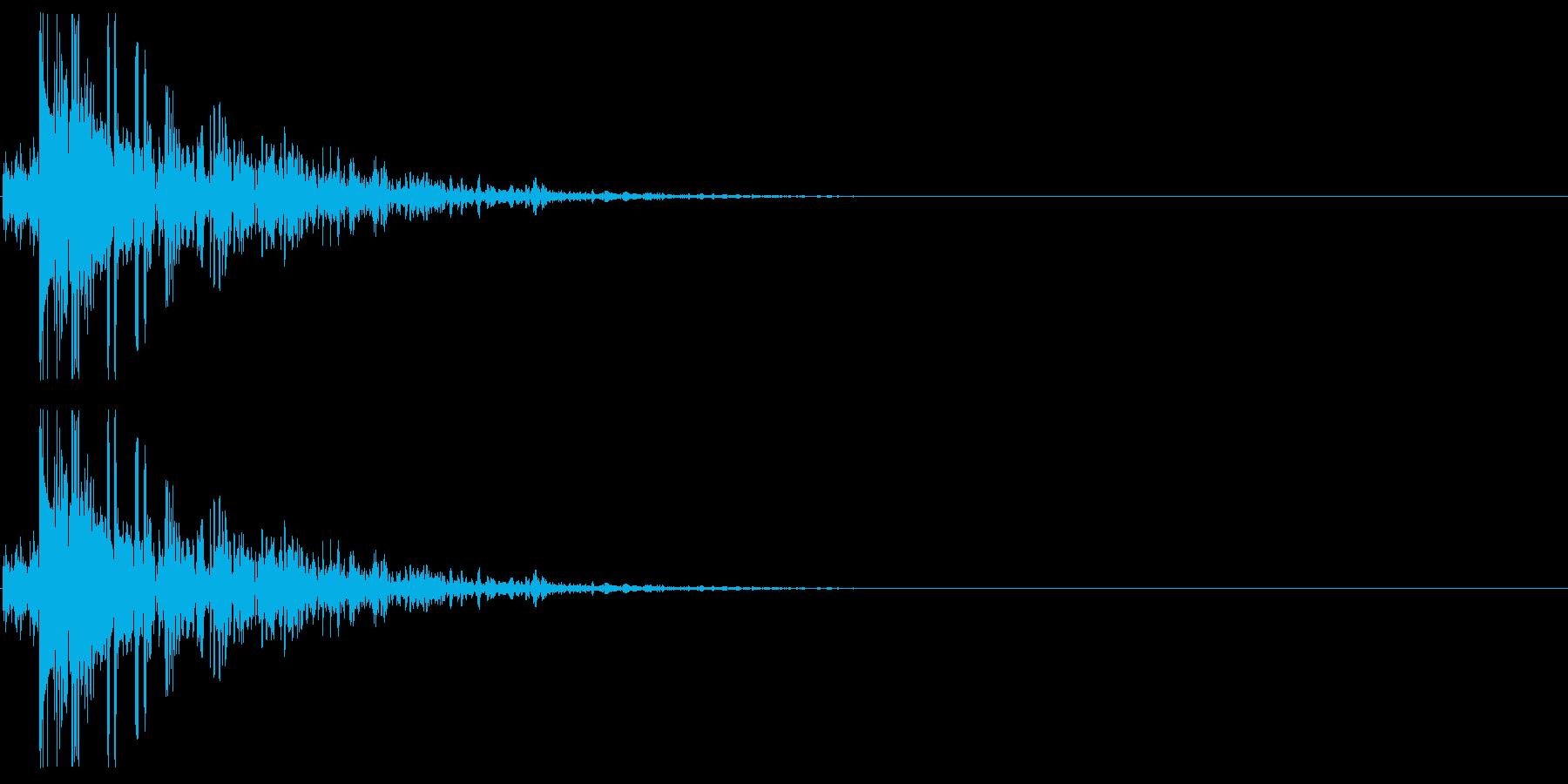 キャラクタが倒れる01(やや重い系)の再生済みの波形