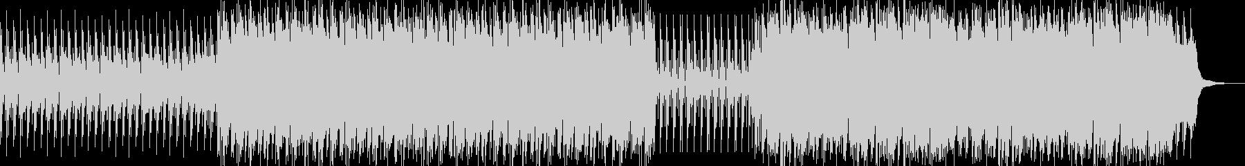 ラテン系のアップテンポな曲の未再生の波形