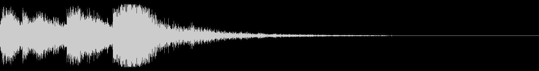 和風 オーケストラヒット ジングル!05の未再生の波形
