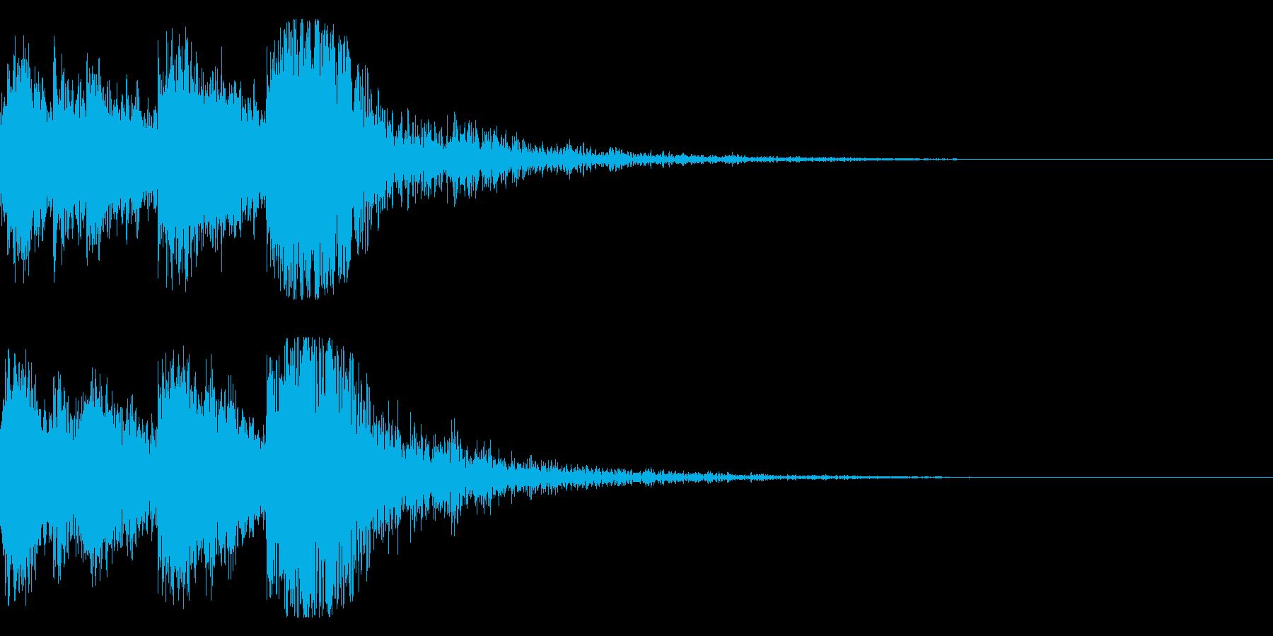 和風 オーケストラヒット ジングル!05の再生済みの波形