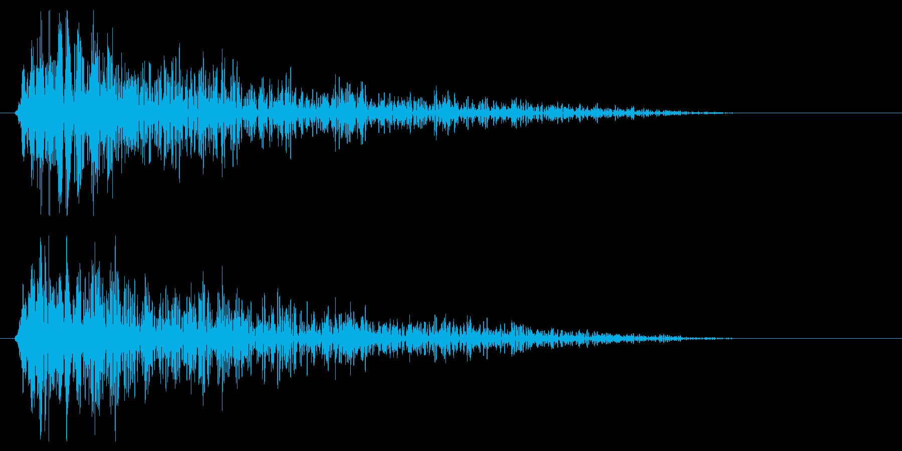 ガ〜ン(衝撃やショックを受けた時の音)の再生済みの波形