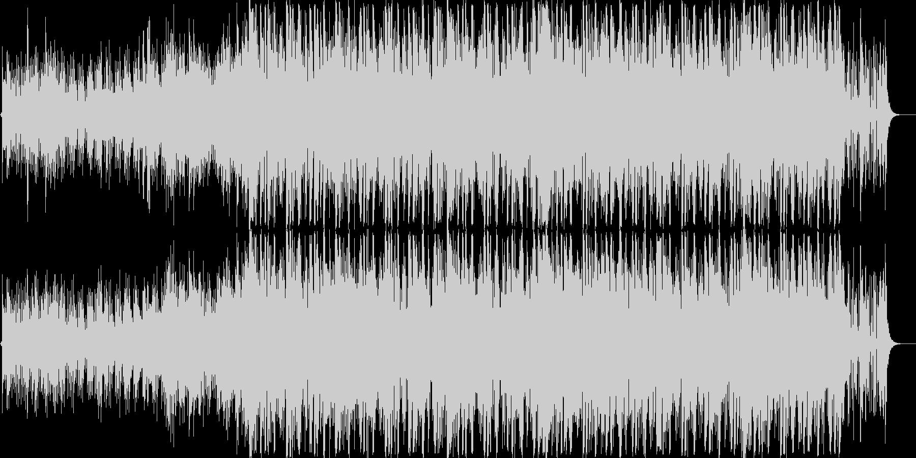 暗く緊迫感のあるBGMの未再生の波形