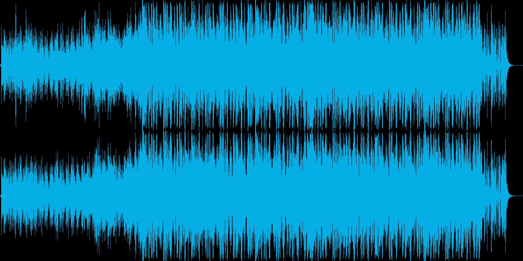 暗く緊迫感のあるBGMの再生済みの波形