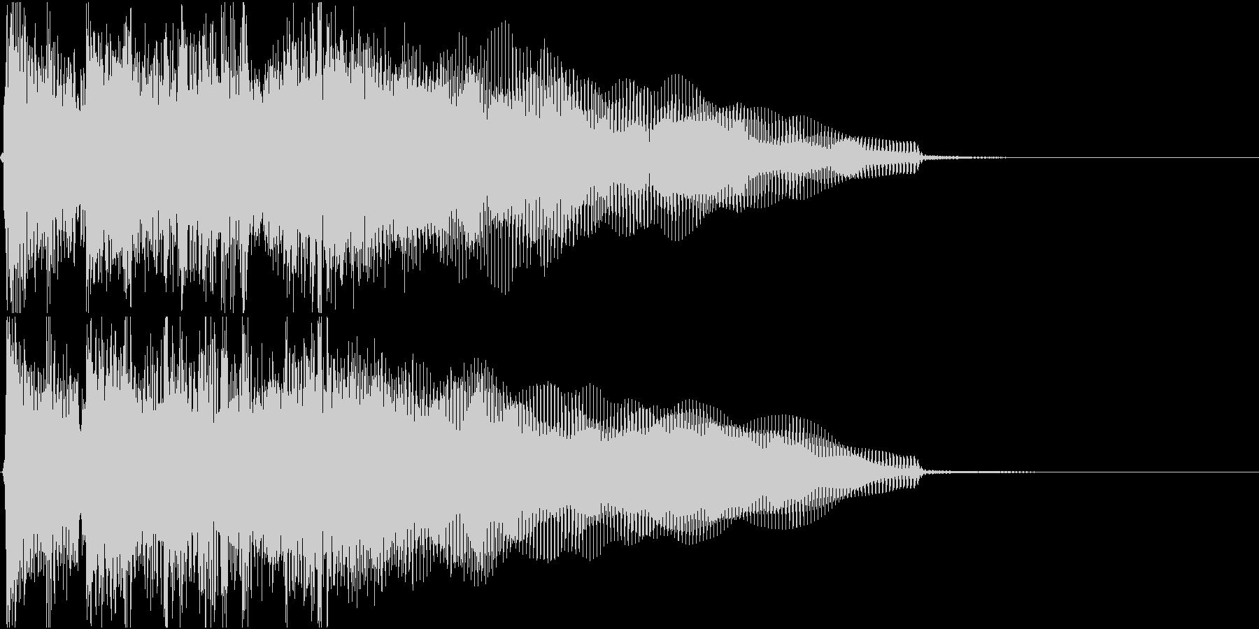 生演奏でのハードなロックジングルS1の未再生の波形
