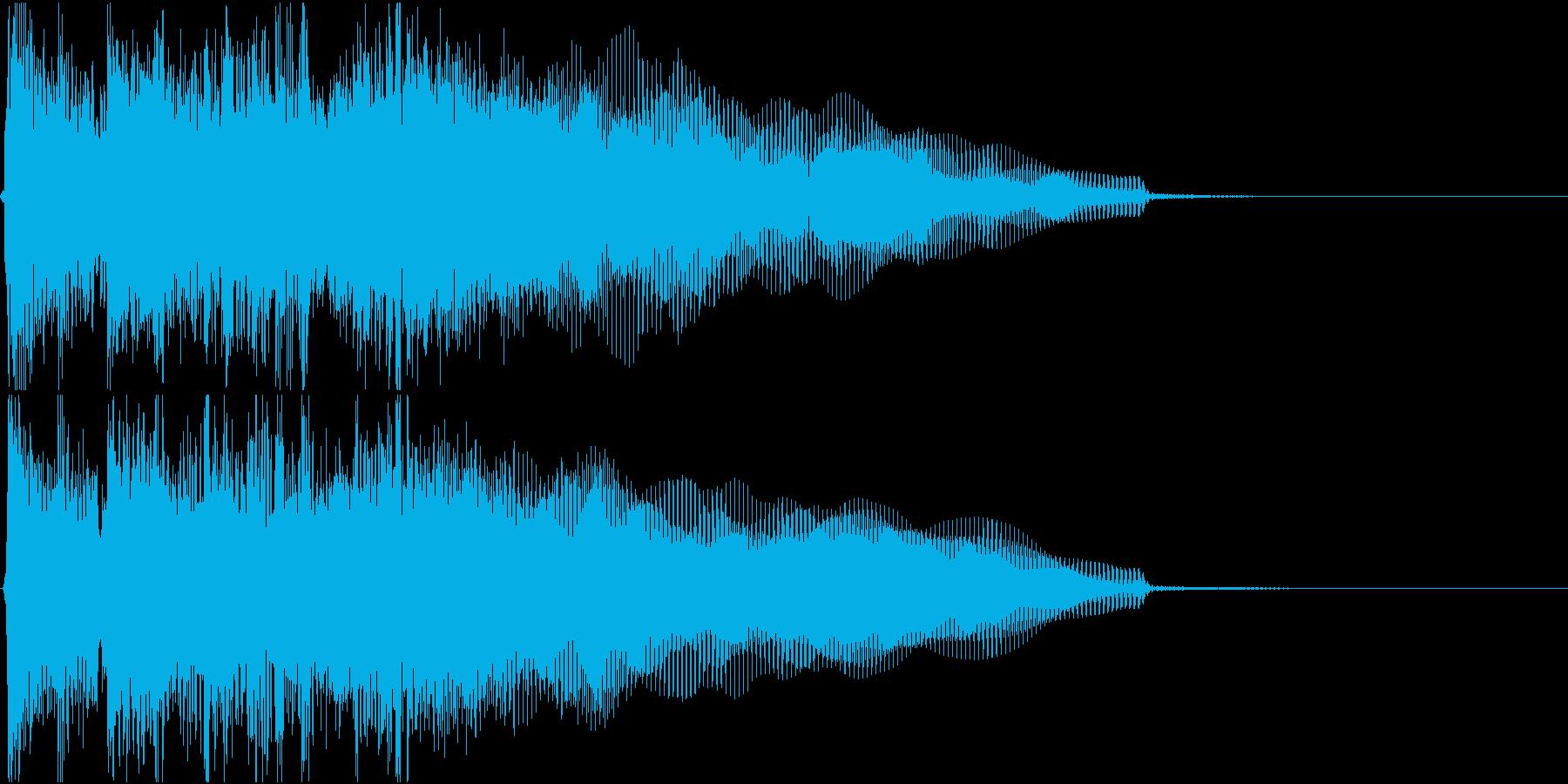生演奏でのハードなロックジングルS1の再生済みの波形