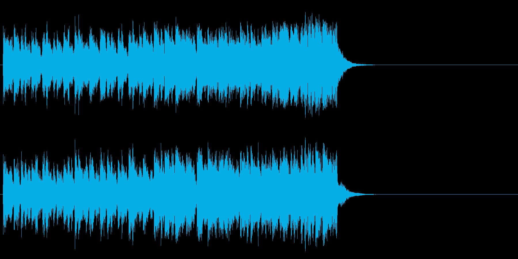 情報向けの軽快なポップス(Aメロ)の再生済みの波形