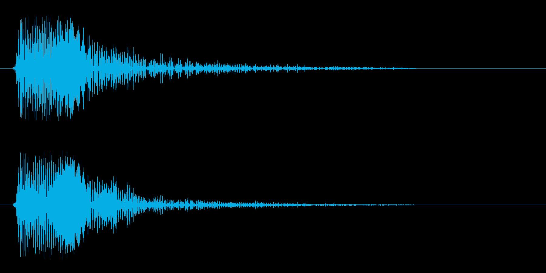 ピヨンっ(アイテムゲットの効果音)の再生済みの波形