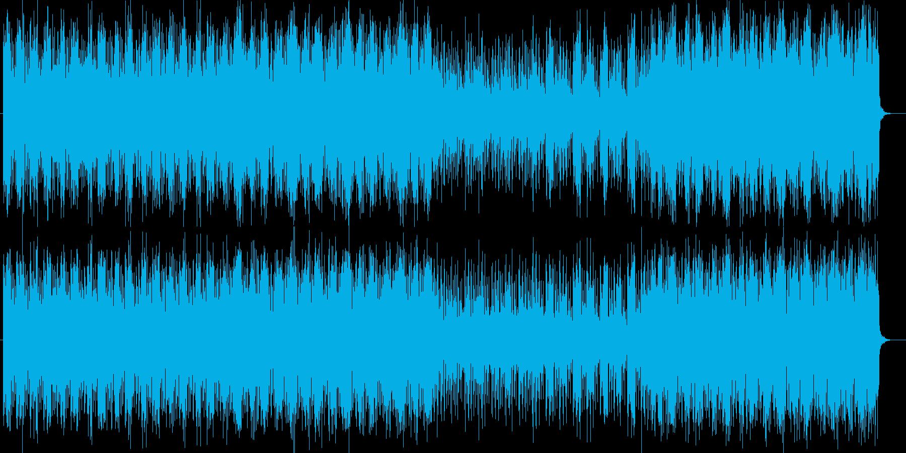 スピード感ある不思議なシンセサウンドの再生済みの波形