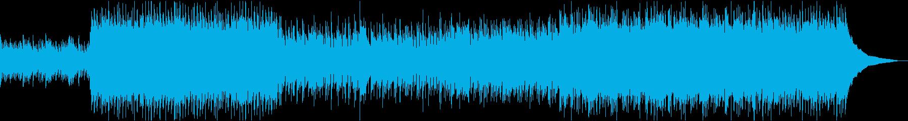 爽やかな映像用のポップソング風BGMの再生済みの波形