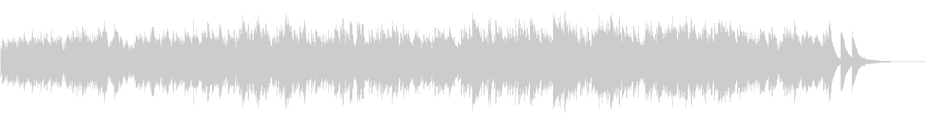AppleのCMをイメージしたピアノ曲の未再生の波形