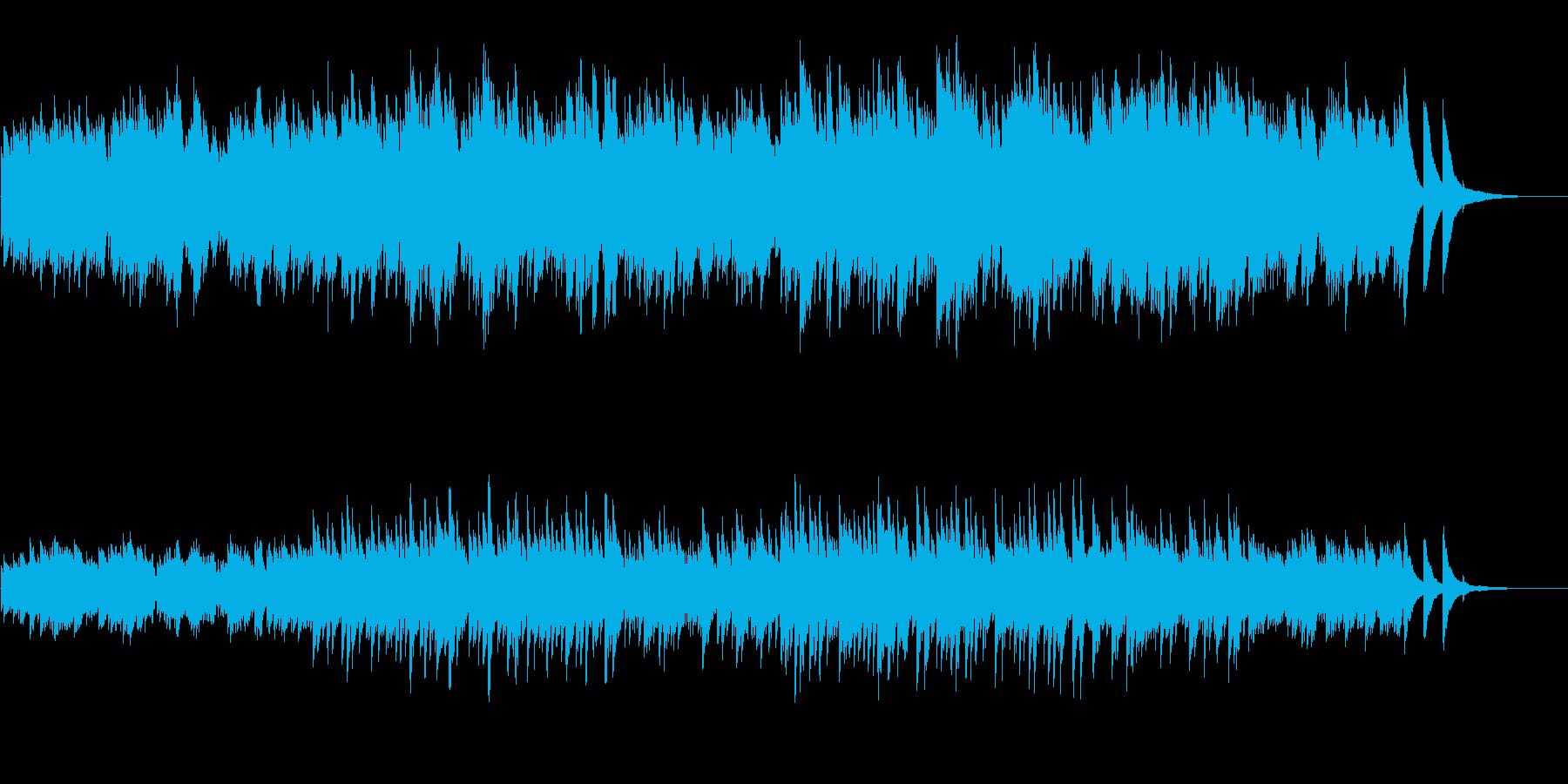 AppleのCMをイメージしたピアノ曲の再生済みの波形