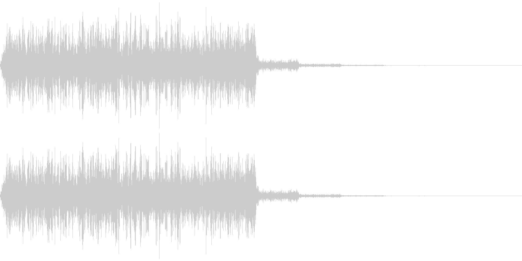 何かを注入するようなイメージの擬音です。の未再生の波形