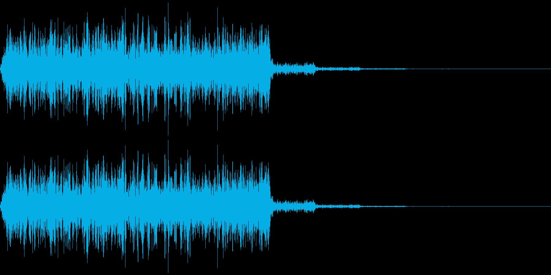 何かを注入するようなイメージの擬音です。の再生済みの波形