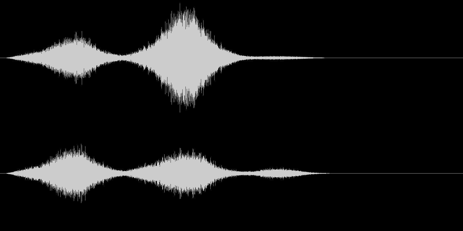 場面 波の未再生の波形