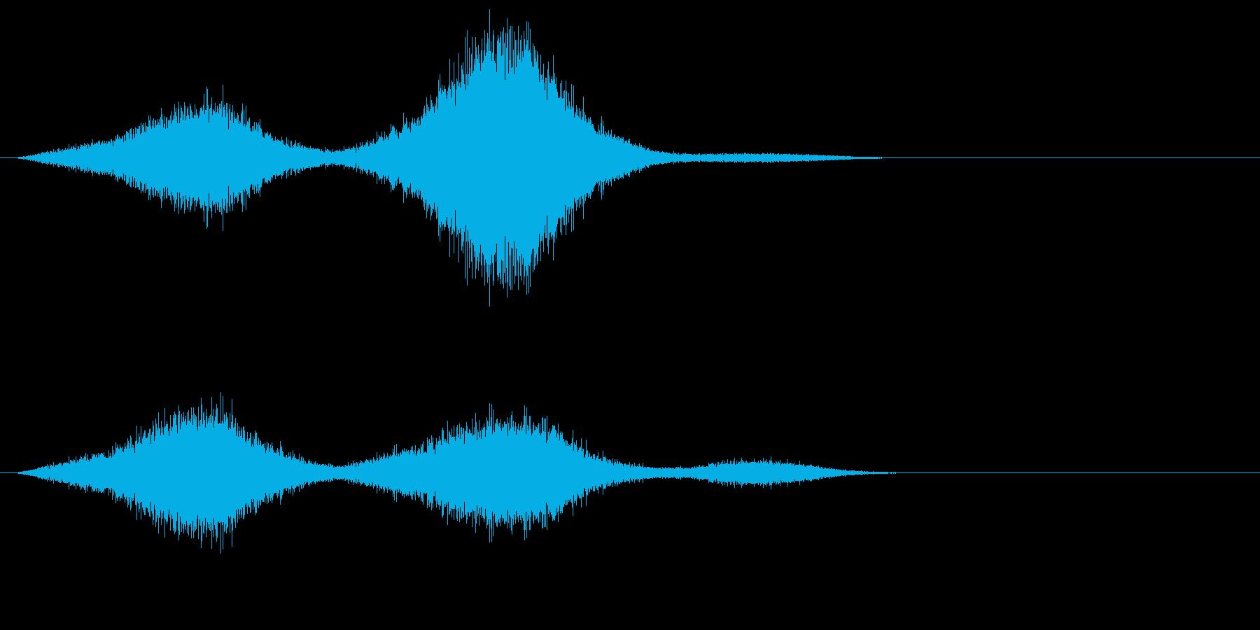 場面 波の再生済みの波形