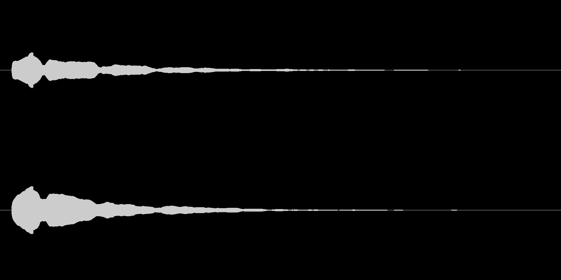 電子音「ポーン」という高い音の未再生の波形